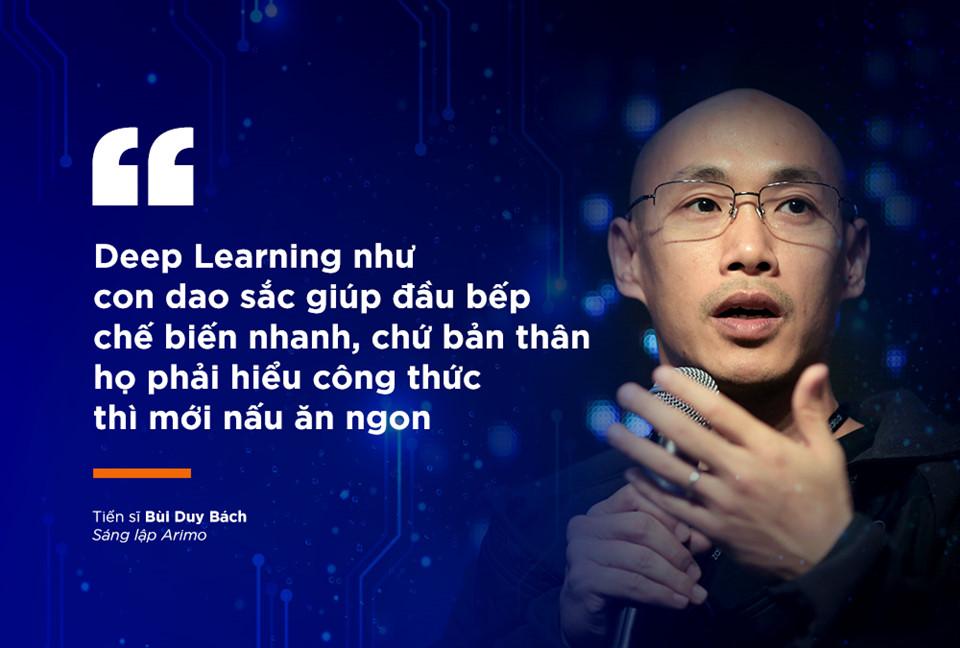 deep learning như con dao sắc giúp đầu bếp chế biến nhanh, nhưng họ phải hiểu công thức thì nấu mới ngon